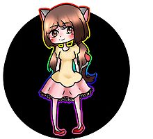 Anime Nyan cat chibi girl by Catlina Neill