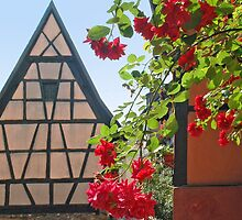 Tiny window in a half-timbered house by Arie Koene