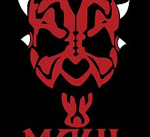 Minimalist Darth Maul by Ninjaza