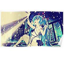 Miku's City Light  Poster