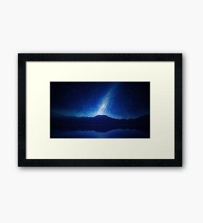 Galactic Lake View Framed Print
