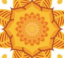 Mandala Naranja Sticker