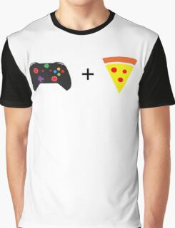 Games and Pizza Graphic T-Shirt