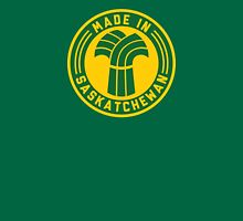 Made in Saskatchewan Logo (Green & Gold) Unisex T-Shirt