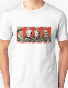 Physicists of the world, unite! Unisex T-Shirt