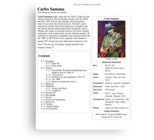 Carlos Santana Wikipedia Canvas Print