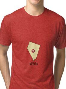 Nevada State Heart Tri-blend T-Shirt