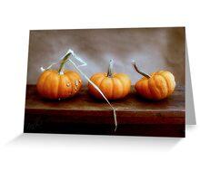 Three Orange Pumpkins Greeting Card Greeting Card