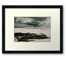 Moody Clouds at Crossapol Framed Print