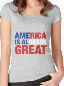 America is already great Women's Fitted Scoop T-Shirt