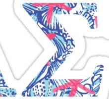 Alpha Sigma Tau lilly pattern Sticker