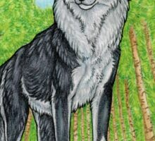 Proud Black Wolf Sticker