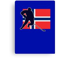 I Love Norge - Norway National Flag & Hockey Player Skjorte Canvas Print
