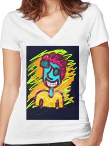 O my dude!?!@ Women's Fitted V-Neck T-Shirt