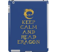 Keep calm and read Eragon (Gold text) iPad Case/Skin