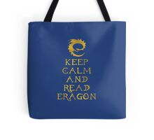Keep calm and read Eragon (Gold text) Tote Bag