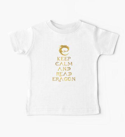 Keep calm and read Eragon (Gold text) Baby Tee
