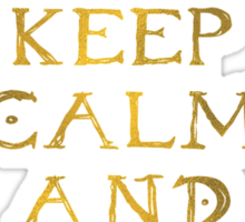 Keep calm and read Eragon (Gold text) Sticker
