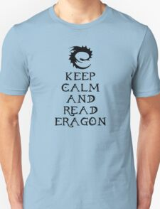 Keep calm and read Eragon (Black text) Unisex T-Shirt