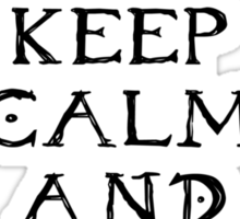 Keep calm and read Eragon (Black text) Sticker
