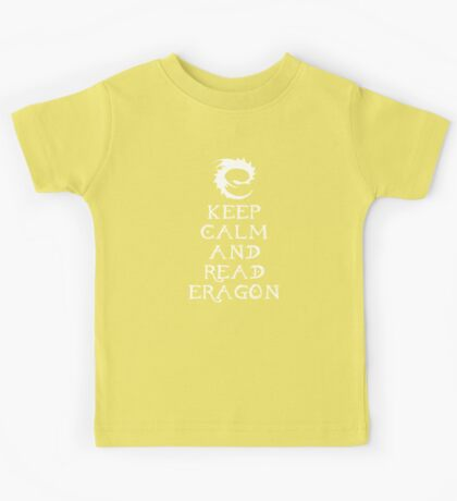 Keep calm and read Eragon (White text) Kids Tee