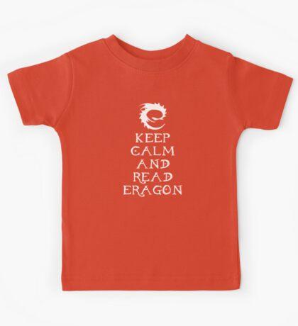Keep calm and read Eragon (White text) Kids Tee