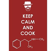 Keep calm and cook Meth - White Photographic Print