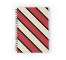 Madison Wisconsin Black & Red & Cream Team Colors Spiral Notebook