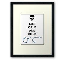 Keep calm and cook Meth - Black Framed Print