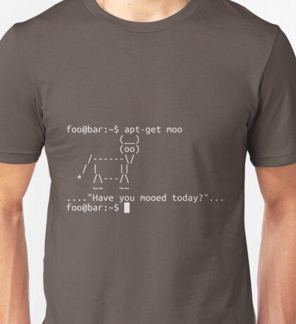 Apt-get moo (white) Unisex T-Shirt