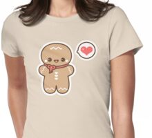Cute Gingerbread Man Womens Fitted T-Shirt