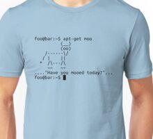 Apt-get moo (black) Unisex T-Shirt