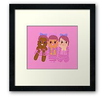 Three girls in pink Framed Print