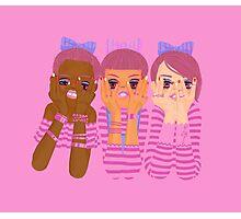 Three girls in pink Photographic Print