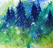 Tree Series - The Pine Trees by Heather Holland by Heatherian
