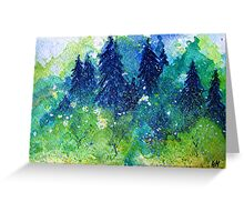 Tree Series - The Pine Trees by Heather Holland Greeting Card