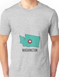 Washington State Heart Unisex T-Shirt
