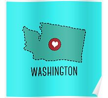 Washington State Heart Poster