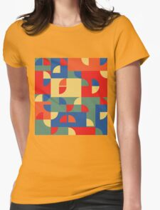 Funky pattern Womens Fitted T-Shirt