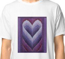 Honeymoon Heart Bargello Quilt Classic T-Shirt