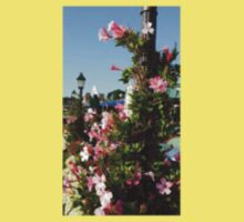 Pink flower Post Baby Tee