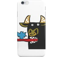 Funny Bull with bird iPhone Case/Skin