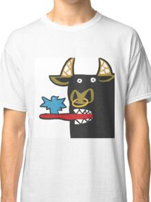Funny Bull with bird Classic T-Shirt
