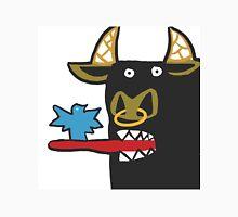 Funny Bull with bird Unisex T-Shirt