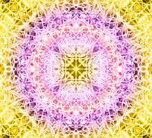 """""""Spirit of India: Fleur-Crown"""" in rose, purple ang yellow by FireFairy"""