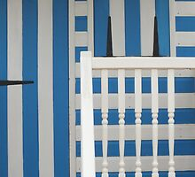 Beach Hut in Blue and White by Yampimon