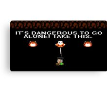 It's Dangerous To Go Alone! Take Haramblade. Canvas Print