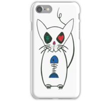 crazy kitty iPhone Case/Skin