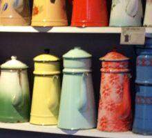 Teapots at the Marché aux puces de Saint-Ouen Sticker