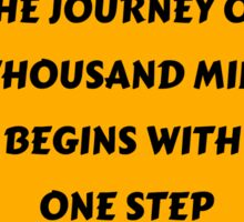 The Journey of a Thousand Miles Sticker